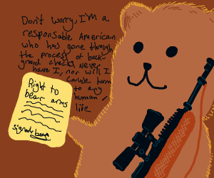 Actual Bear has right to bear arms