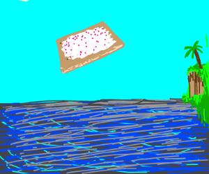 Poptart adventuring over the ocean