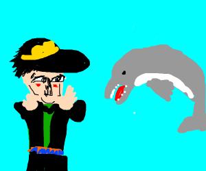 Jotaro calling a dolphin beautiful