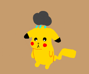 Guilty looking Pikachu