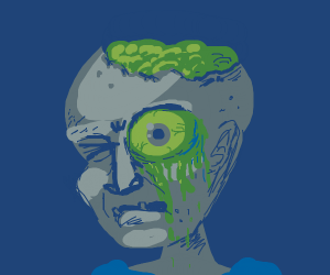 slimy zombie eyeball