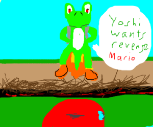 Yoshi with jet pack