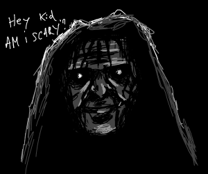 a very scary man