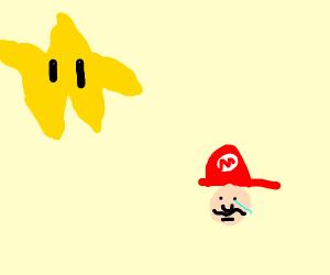 Starman From Super Mario Roasting Mario