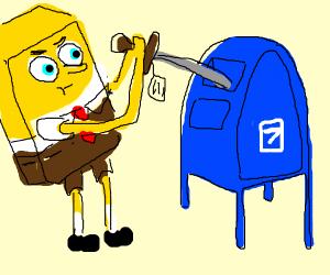 Spongebob mails a sword