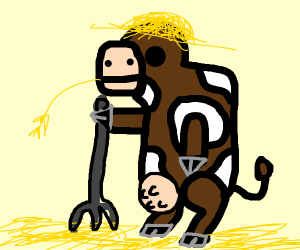 A cow is a farmer