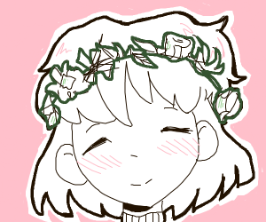 Women with flower band on her head
