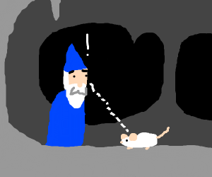 Wizard finds rat in a cave