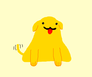 a yellow dog