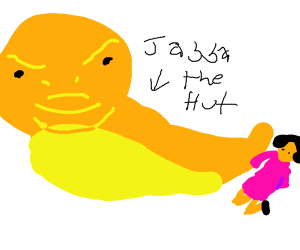 Jabba the Hutt enslaved another lady