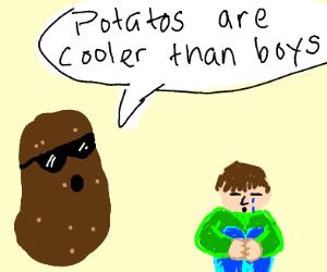 potato hurt boys feelings
