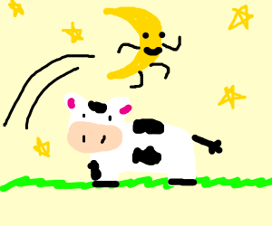 actually, the moon jumped over a cow