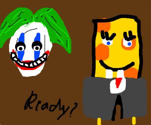 Joker and Spongebob team up