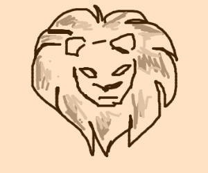 minimalist lion