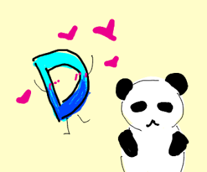 Drawception logo LOVES pandas