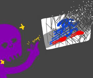 Thanos happily snaps away Movie Sonic