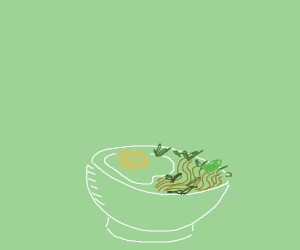 Udon with egg