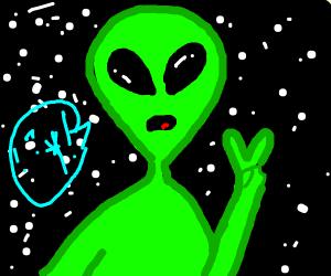 Alien speaking alien language