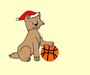 santa CLAWS likes basketball