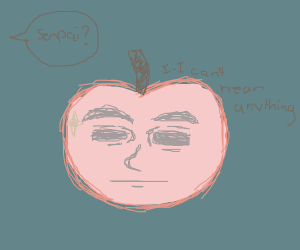 senpai apple can't hear