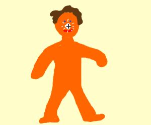 orange man with diamond nose