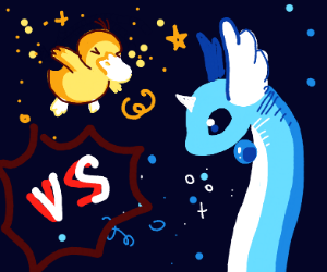Psyduck vs Dragonair