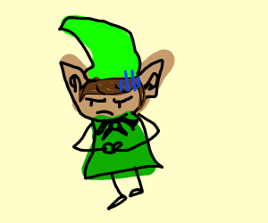 Disappointed elf