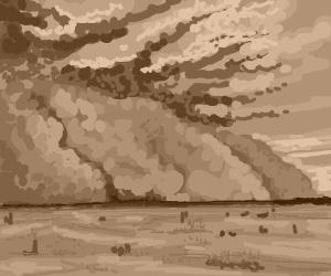 Desert sand storm
