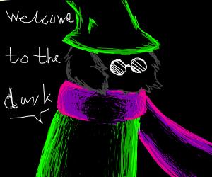 ralsei(deltarune) say: Welcome to the dark