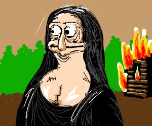 derp mona lisa sets house on fire