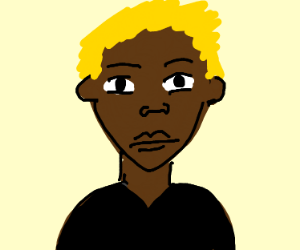 black duck with blonde hair