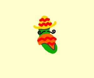 Spanish cucumber with safari hat