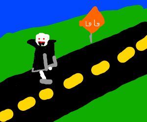Vampire crossing the Highway