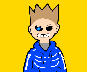 Fusion of Sans Undertale and Tom Eddsworld