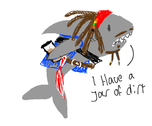 Shark as captain Jack Sparrow