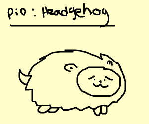 Draw a hedgehog (pass it on)