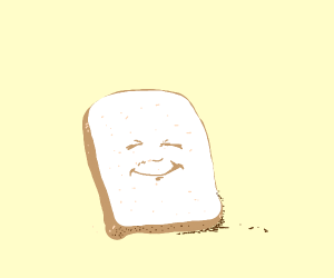 Happy slice of bread