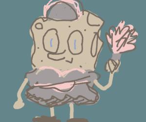 cave sponebob maid