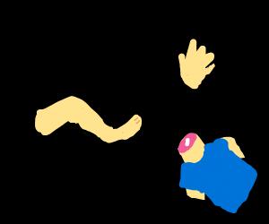 random floating body parts (legs, torso, etc)