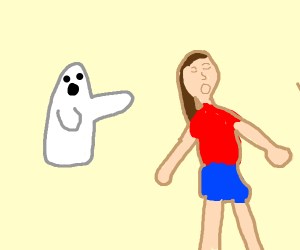 girl gets chased by a ghost