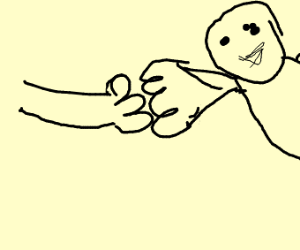 DOUBLE FISTBUMP WITH ANGERY GHOST