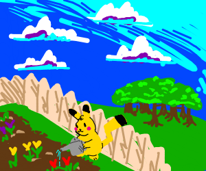 Pikachu waters garden