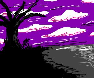 Purple sky haha