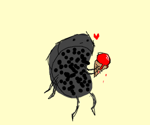 this leech loves blood icecream!