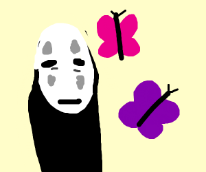 No face likes butterflies.(studio ghibli)