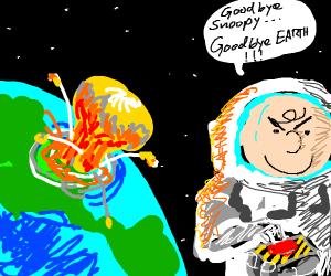 Charlie brown destroys world creation