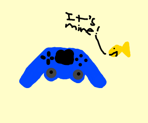 Fish claims Playstation controller as its own