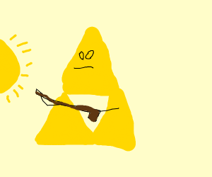 Legend of Zelda tri sign shooting smthg @ sun