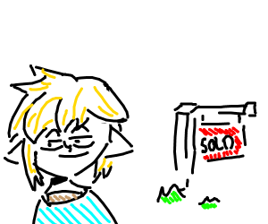 Link buys his own place.