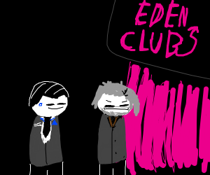 Connor and Hank at the Eden Club